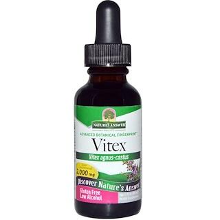 Nature's Answer, Vitex, Low Organic Alcohol, 2,000 mg, 1 fl oz (30 ml)
