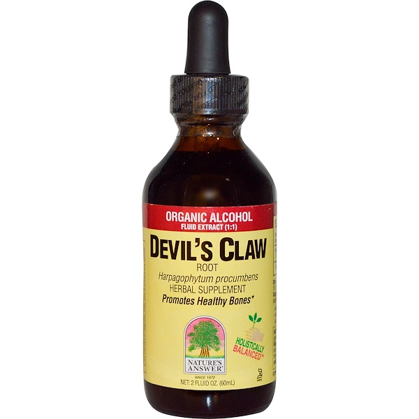 Nature's Answer, Devil's Claw, Root, Organic Alcohol Fluid Extract (1:1), 2 fl oz (60 ml) (Discontinued Item)