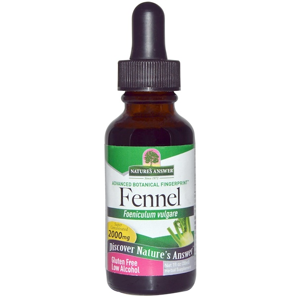 Nature's Answer, Fennel, Low Alcohol, 2000 mg, 1 fl oz (30 ml) (Discontinued Item)