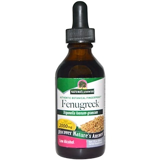 Nature's Answer, Fenugreek, Low Alcohol, 2000 mg, 2 fl oz (60 ml)