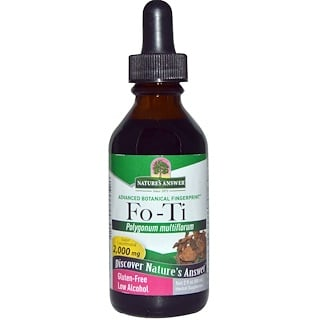 Nature's Answer, Fo-Ti, Niedriger Alkoholgehalt, 2000 mg, 2 fl oz (60 ml)
