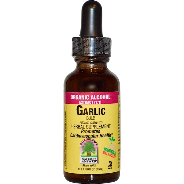 Nature's Answer, Garlic Bulb, Organic Alcohol Extract, 1 fl oz (30 ml) (Discontinued Item)