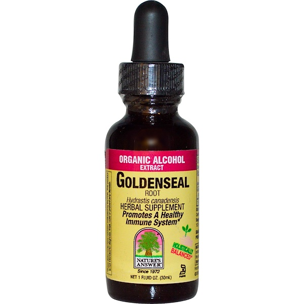 Nature's Answer, Goldenseal, Root, Organic Alcohol Extract, 1 fl oz (30 ml) (Discontinued Item)