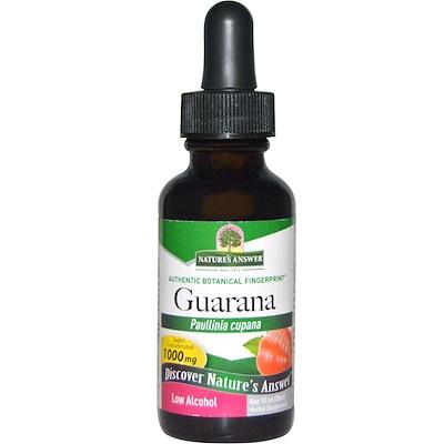 Гуарана, Paullinia Cupana, 1000 мг, 1 жидкая унция (30 мл)