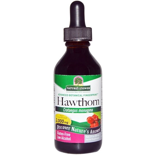 Nature's Answer, Hawthorn, Low Organic Alcohol, 2,000 mg, 2 fl oz (60 ml) (Discontinued Item)