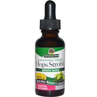 Nature's Answer, Hops Strobile, Low Alcohol, 2000 mg, 1 fl oz (30 ml)