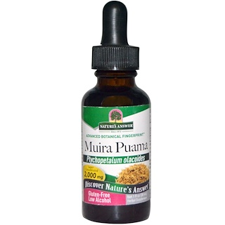 Nature's Answer, Muira Puama (Potenzbaum), geringer Alkoholanteil, 2000 mg, 30 ml