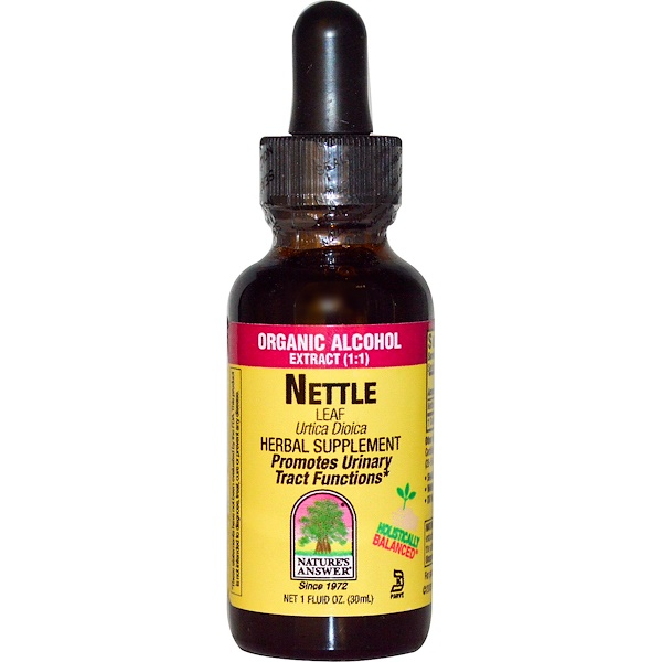Nature's Answer, Nettle Leaf, Organic Alcohol, 1 fl oz (30 ml) (Discontinued Item)