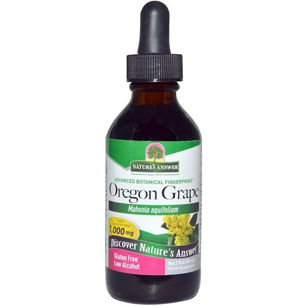 Nature's Answer, Oregon Grape, Low Alcohol, 1,000 mg, 2 fl oz (60 ml)