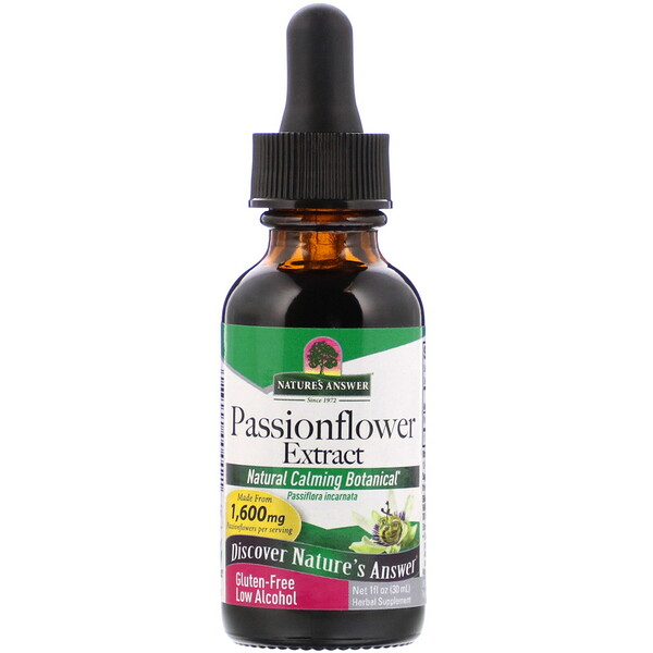 Nature's Answer, Passionflower Extract, Low Alcohol, 1,600 mg, 1 fl oz (30 ml)