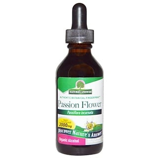 Nature's Answer, Passion Flower, Low Organic Alcohol, 2000 mg, 2 fl oz (60 ml)
