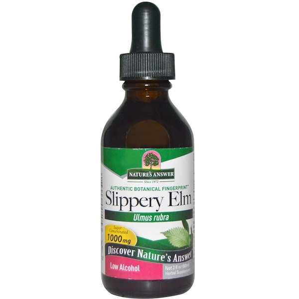 Nature's Answer, Slippery Elm, Low Alcohol, 1000 mg, 2 fl oz (60 ml) (Discontinued Item)