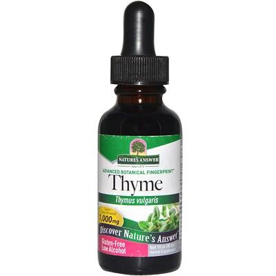 Тимьян, с низким содержанием спирта, 2000 мг, 1 жидкая унция (30 мл) a life of benito juarez