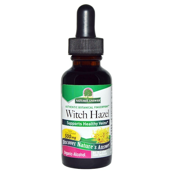 Nature's Answer, Witch Hazel, Organic-Alcohol, 1 fl oz (30 ml) (Discontinued Item)