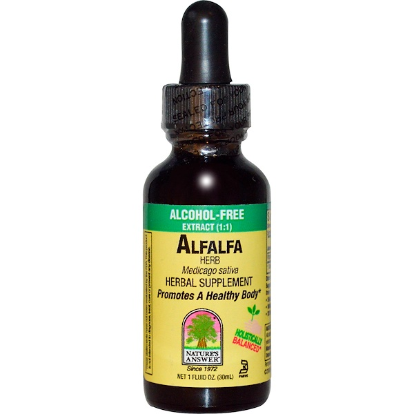 Nature's Answer, Alfalfa, Alcohol-Free, 1 fl oz (30 ml) (Discontinued Item)