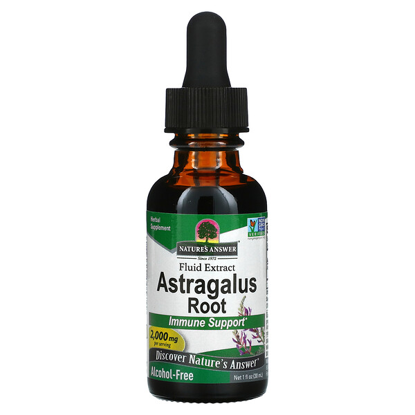 Astragalus Root, Fluid Extract, Alcohol-Free, 2,000 mg, 1 fl oz (30 ml)