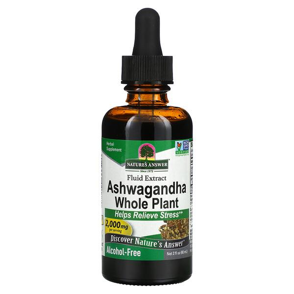 Nature's Answer, Ashwagandha Whole Plant, Fluid Extract, Alcohol-Free, 2,000 mg, 2 fl oz (60 ml)