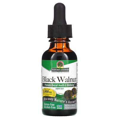 Купить Nature's Answer Безалкогольный экстракт черного ореха, 2000 мг, 30 мл (1 жидкая унция)