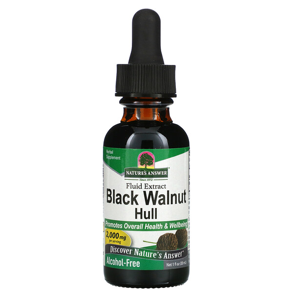 Black Walnut Hull, Alcohol-Free, 2,000 mg, 1 fl oz (30 ml)
