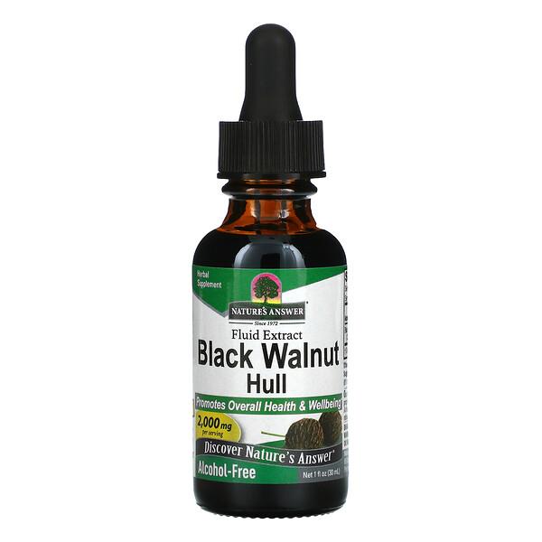 Black Walnut Hull, Fluid Extract, Alcohol-Free, 2,000 mg, 1 fl oz (30 ml)
