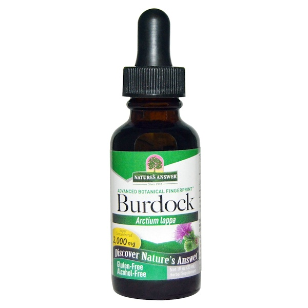 Nature's Answer, Burdock, Alcohol-Free, 2,000 mg, 1 fl oz (30 ml)