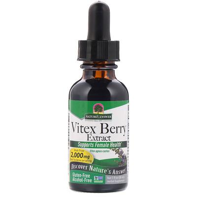 Купить Vitex Berry Extract, Alcohol-Free, 2, 000 mg, 1 fl oz (30 ml)
