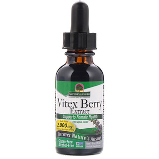 Nature's Answer, Vitex Berry Extract, Alcohol-Free, 2,000 mg, 1 fl oz (30 ml)