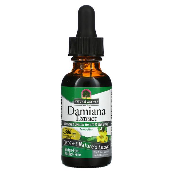 Nature's Answer, Damiana Extract, Alcohol-Free, 2,500 mg, 1 fl oz (30 ml)
