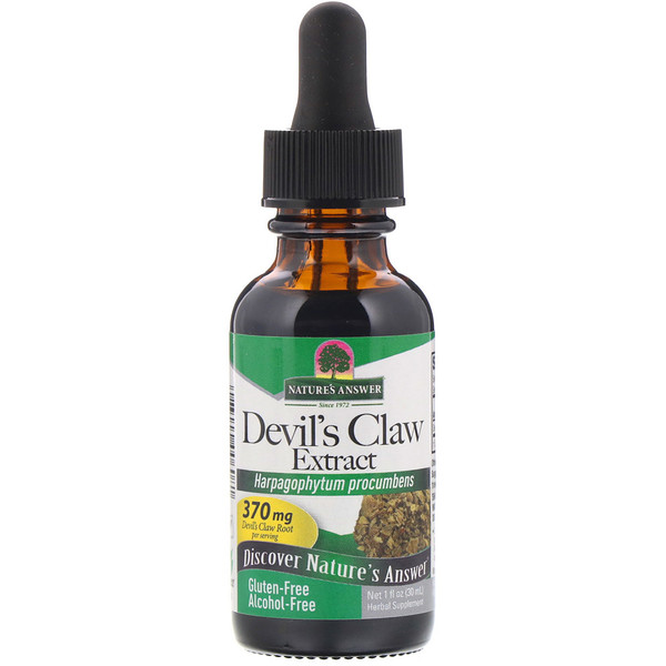 Devil's Claw Extract, Alcohol-Free, 370 mg, 1 fl oz (30 ml)