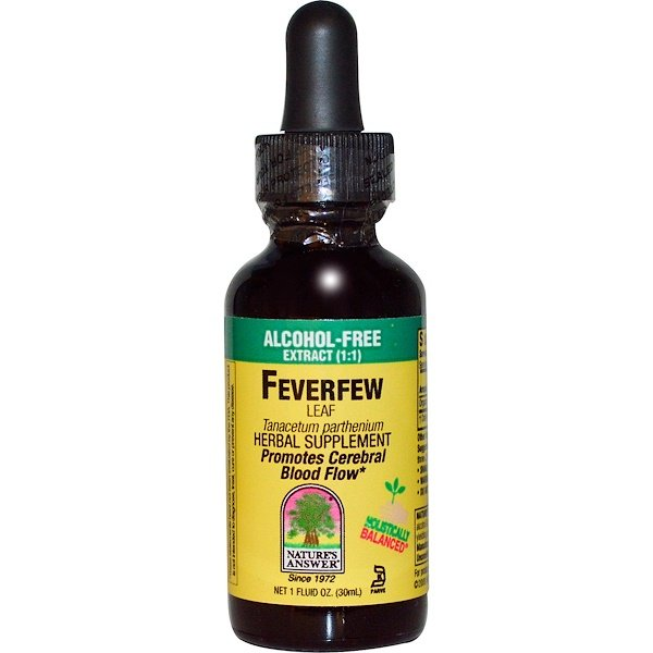 Nature's Answer, FeverFew Leaf, Alcohol-Free, 1 fl oz (30 ml) (Discontinued Item)