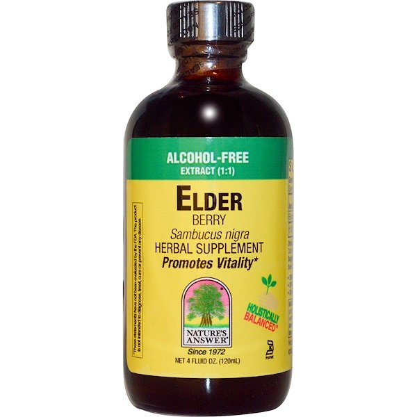 Nature's Answer, Elder, Berry, Alcohol-Free Extract (1:1), 4 fl oz (120 ml) (Discontinued Item)