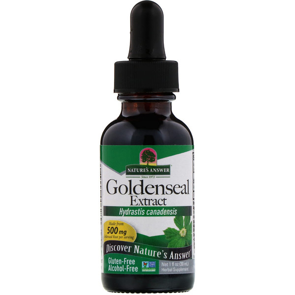 Goldenseal Extract, Alcohol Free, 500 mg, 1 fl oz (30 ml)