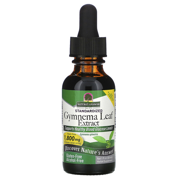 Nature's Answer, Standardized Gymnema Leaf Extract, Alcohol-Free, 1,800 mg, 1 fl oz (30 ml)