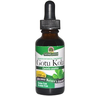 Nature's Answer, Hierba Gotu Kola, Sin Alcohol, 1 fl oz (30 ml)