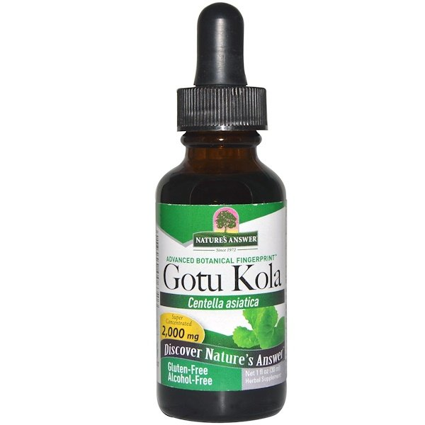 Nature's Answer, Gotu Kola, Sem Álcool, 1 fl. oz. (30 ml)
