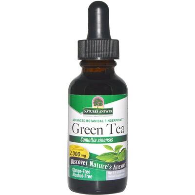 Купить Зеленый чай, без спирта, 1 жидкая унция (30 мл)