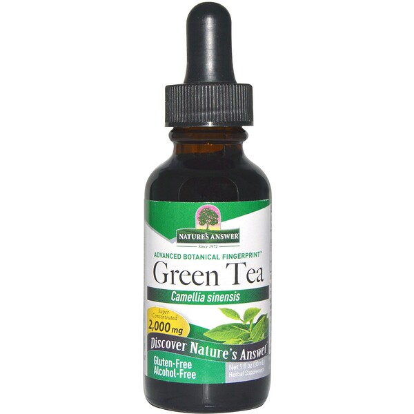 Green Tea, Alcohol-Free, 2,000 mg, 1 fl oz (30 ml)
