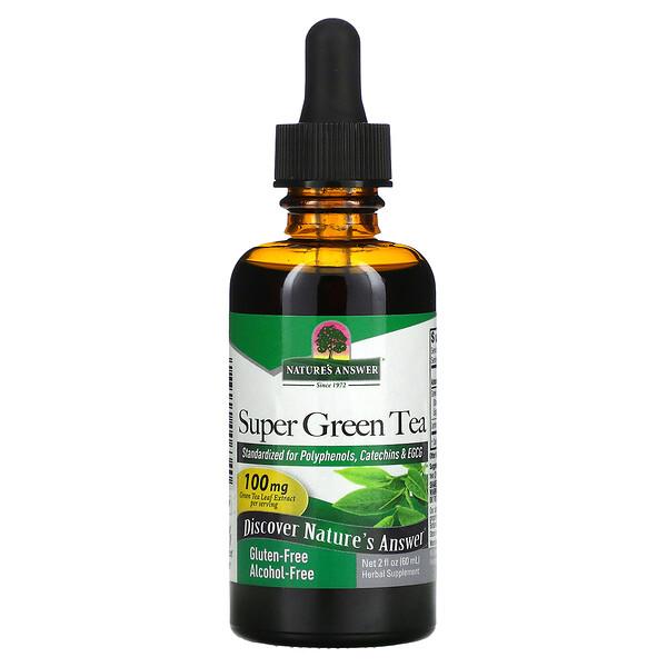 شاي أخضر فائق، خالٍ من الكحول، 2 أونصة سائلة (60 مل)