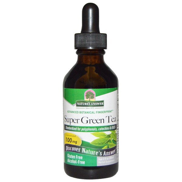 Nature's Answer, Super Green Tea, Alcohol-Free, 2 fl oz (60 ml)