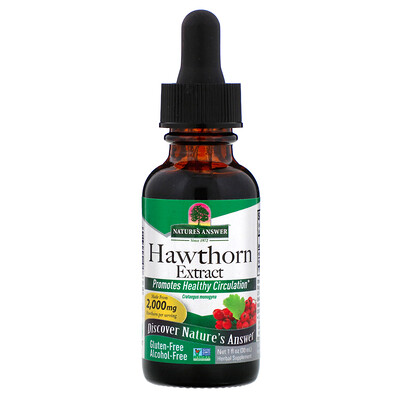 Hawthorn Extract, Alcohol-Free, 2,000 mg, 1 fl oz (30 ml)