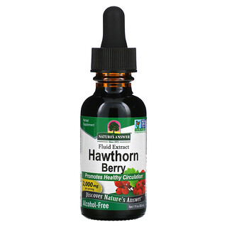Nature's Answer, Hawthorn Berry, Fluid Extract, Alcohol-Free, 2,000 mg, 1 fl oz (30 ml)