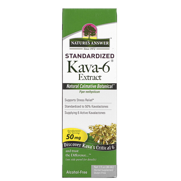Nature's Answer, Kava-6, 알코올 무함유 추출물, 30ml(1fl oz)