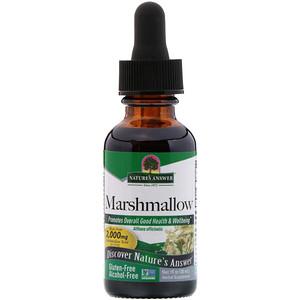 Натурес Ансвер, Marshmallow, Alcohol Free, 2,000 mg, 1 fl oz (30 ml) отзывы покупателей