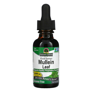 Nature's Answer, Mullein Leaf, Fluid Extract, Alcohol-Free, 2,000 mg, 1 fl oz (30 ml)
