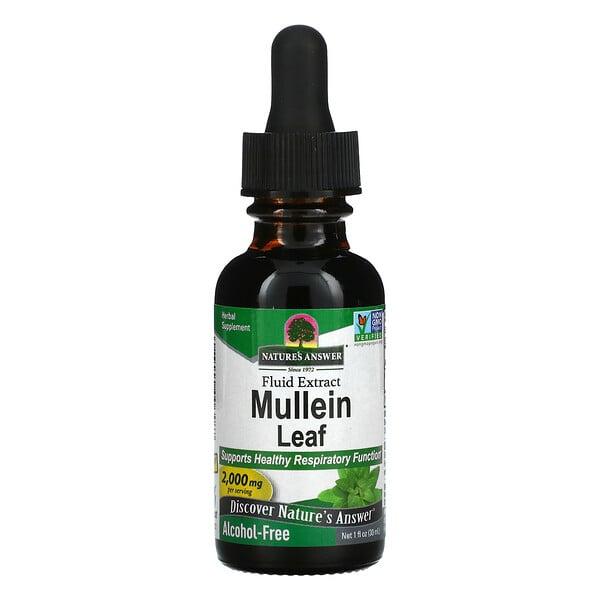 毛蕊花,无醇,2000 mg, 1 fl oz (30 ml)