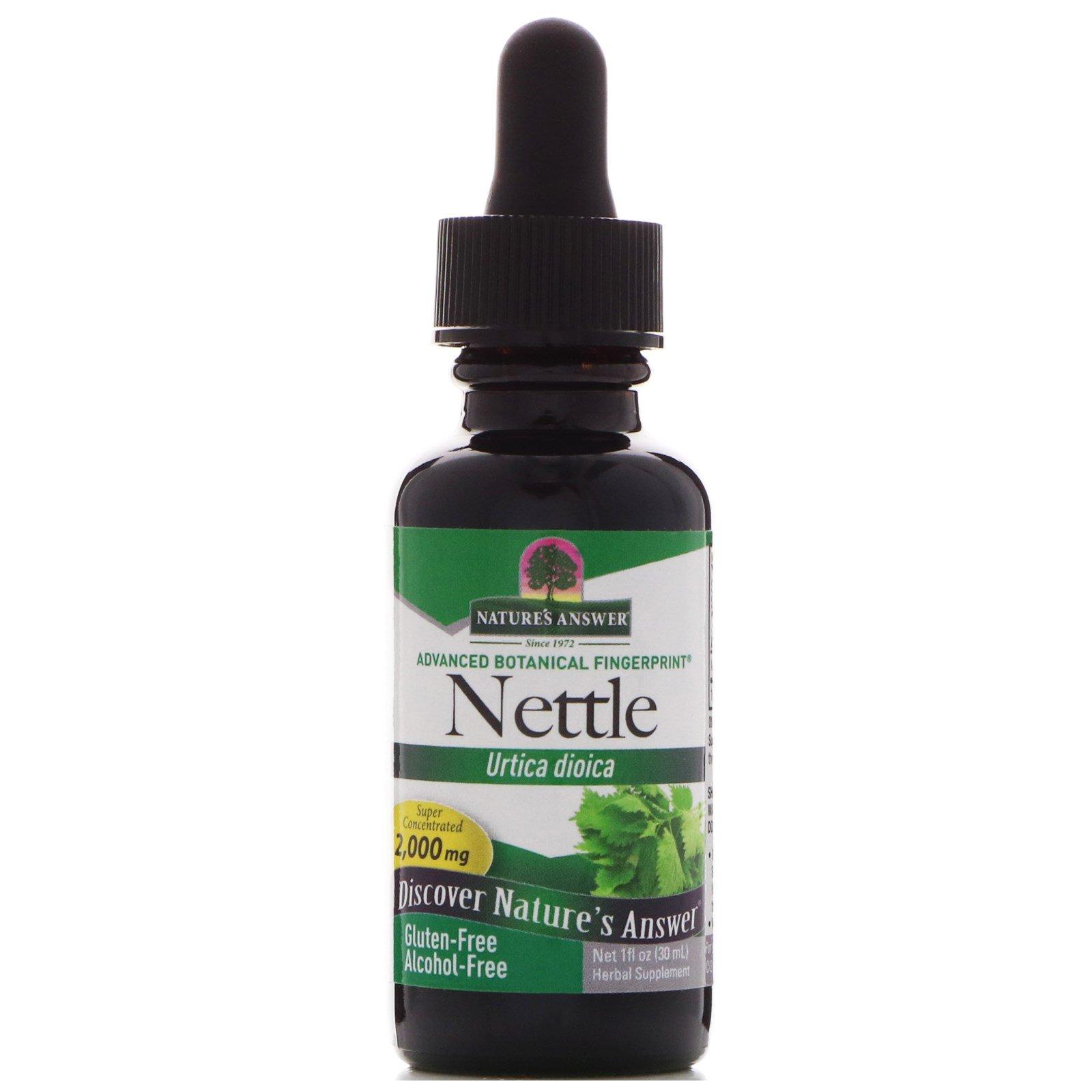 Nature's Answer, Крапива двудомная (Urtica Dioica), 2000 мг, 1 жидкая унция (30 мл)