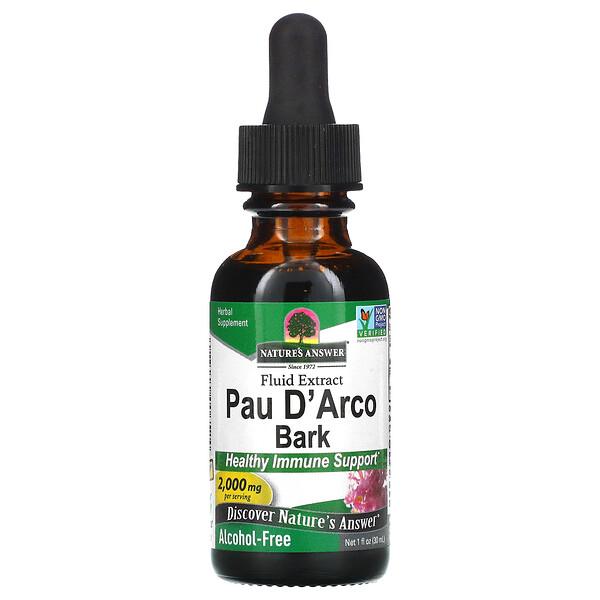 Pau D' Arco 껍질, 알코올 무함유, 2,000mg, 30ml(1fl oz)