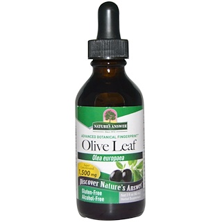 Nature's Answer, Olive Leaf, Alcohol-Free, 1,500 mg, 2 fl oz (60 ml)