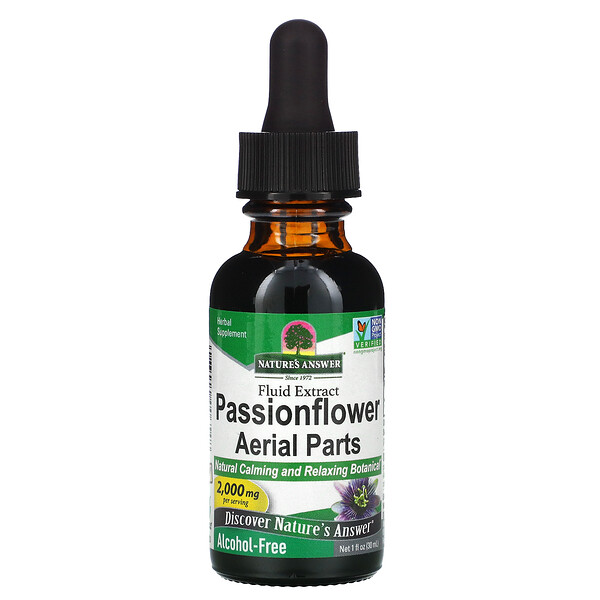 Passionflower Aerial Parts, Alcohol-Free, 2,000 mg, 1 fl oz (30 ml)