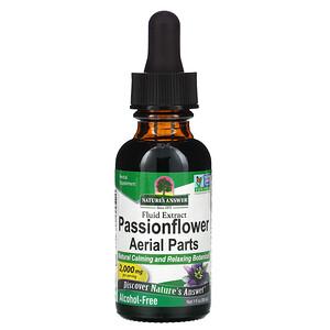 Натурес Ансвер, Passionflower Aerial Parts, Alcohol-Free, 2,000 mg, 1 fl oz (30 ml) отзывы